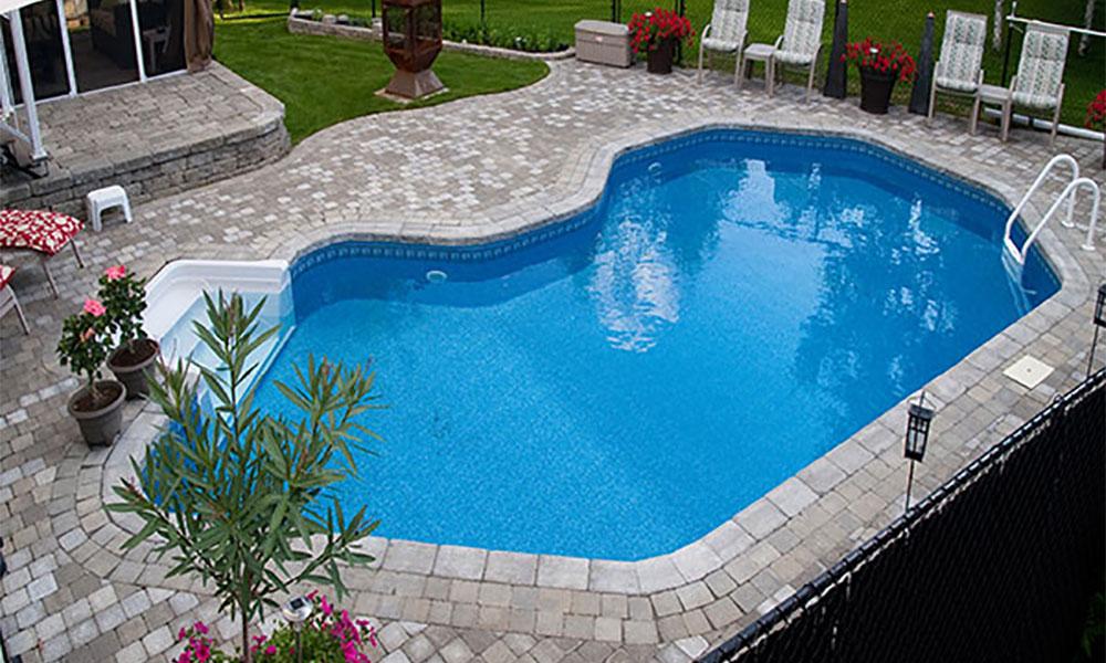 Lanai inground pool mermaid pools ottawa ontario for Pool lanai cost