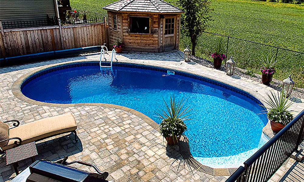 Kidney inground pool mermaid pools ottawa ontario - Kidney shaped above ground swimming pools ...